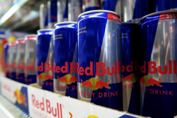 Red Bull drink cans are seen in a supermarket in Vienna
