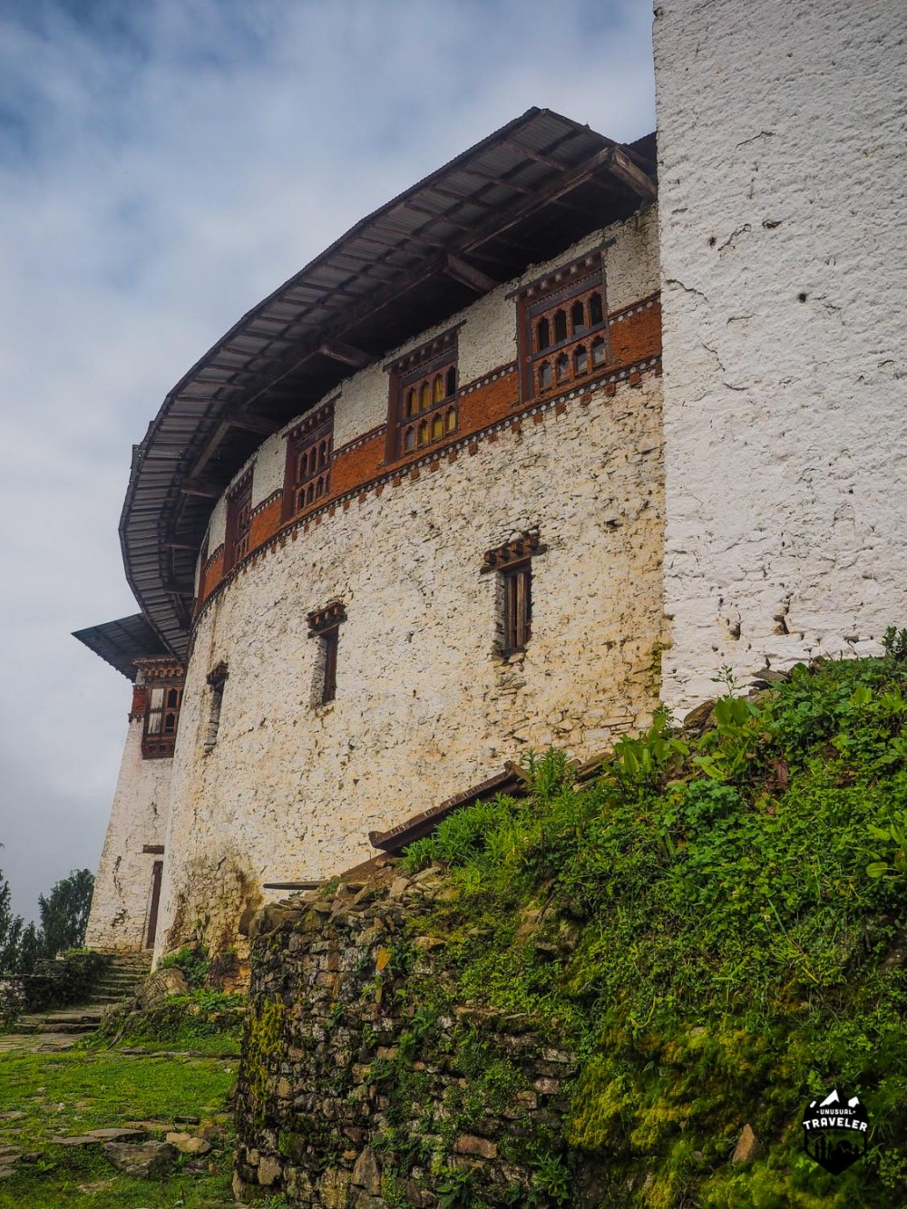 The main wall at this Dzong is different from other Dzong since this one is round