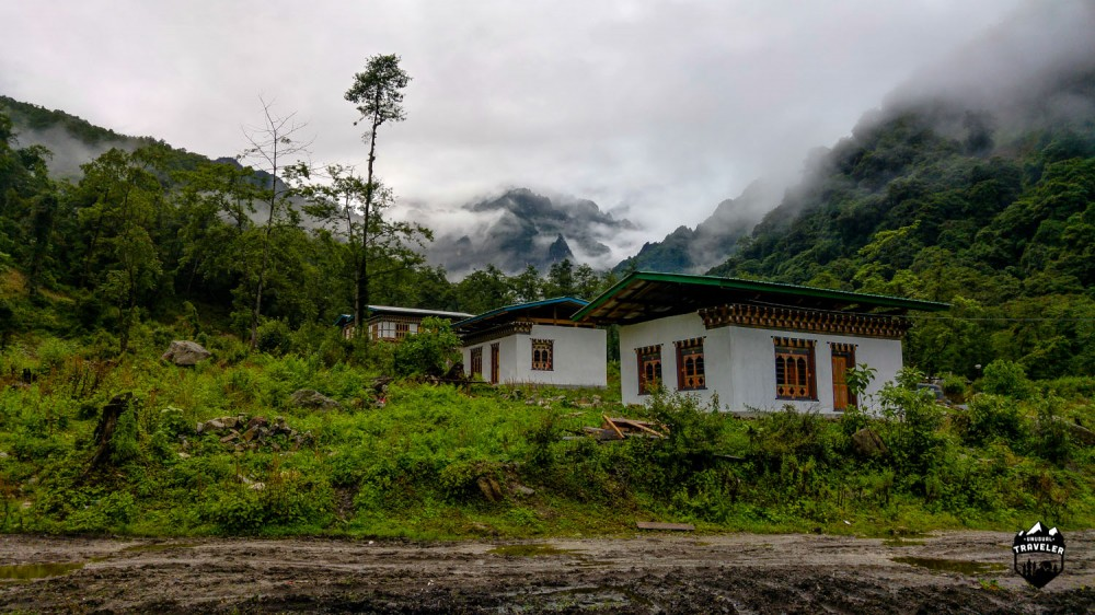 Gasa accomandation, the only one in the area in northern Bhutan.